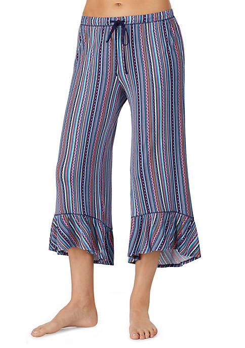 Ruffle Capri Sleep Pants