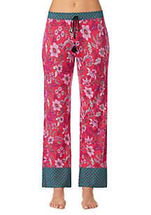 Layla® Border Trim Pajama Pants