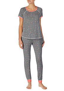 Layla® Short Sleeve Top and Jogger Set