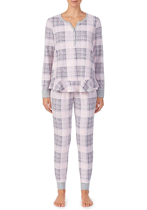 Layla® Long Sleeve Pajama Set with 2 Piece