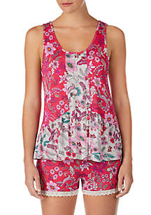 Layla® 2 Piece Tank and Boxer Pajama Set