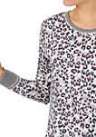 Long Sleeve Pajama Set with 2 Piece Scrunchies