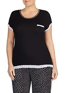 Layla® Plus Size Ruffle PJ Top