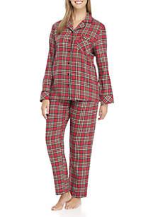Traditional Plaid 2-Piece Pajama Set