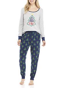 2-Piece Merry Christmas Y'all Pajama Set