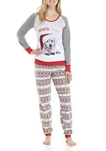 Santa Paws 2-Piece Pajama Set