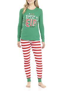 Blame It on the Elf 2-Piece Pajama Set