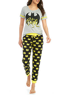 Briefly Stated Batgirl Tee And Jogger Pajama Set