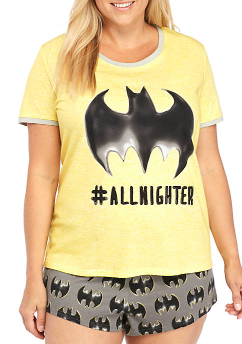 Briefly Stated Plus Size Batman Boxer Set