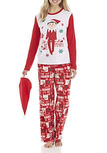Womens Elf on the Shelve Pajama Set