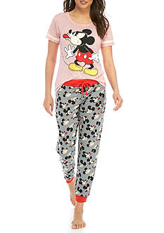 Briefly Stated Mickey Mouse Tee And Jogger Pajama Set