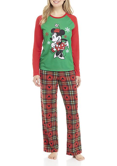 Disney® Minnie Minnie Mouse Womens 2-Piece Pajama Set