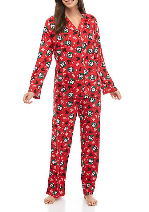 Disney® Mickey Womens 2 Piece Pajama Set