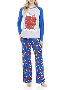 2-Piece Snoopy Pajama Set