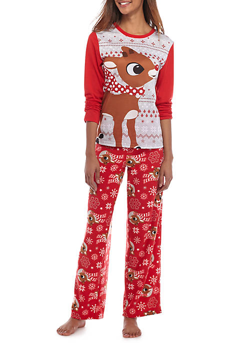 Rudolph The Red Nosed Reindeer 2 Piece Rudolph Pajama Set