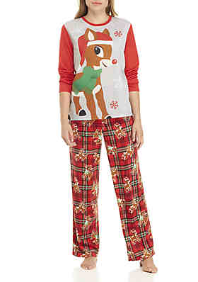 4bbb56c5710 RUDOLPH THE RED-NOSED REINDEER Women s 2-Piece Rudolph Pajama Set ...