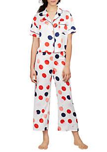 2-Piece Short Sleeve Balloons Charm Pajama Set