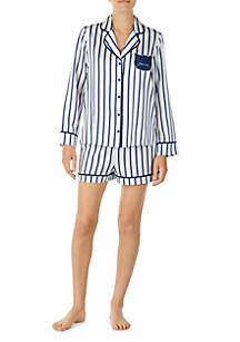 2-Piece Long Sleeve Charm Shorts Set