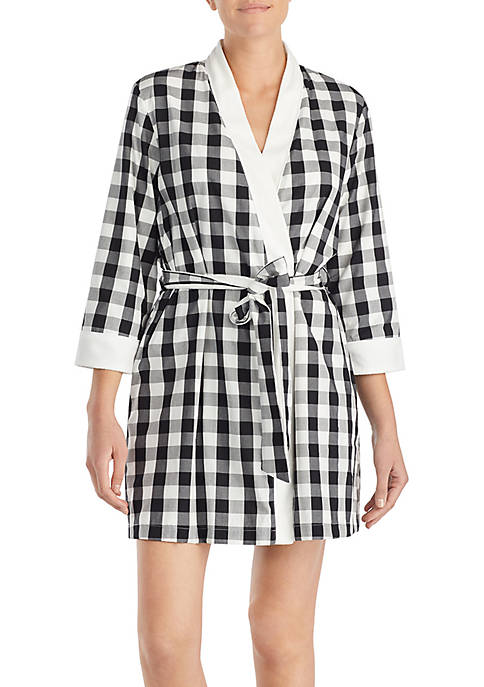 kate spade new york® Lawn Gingham Terry Robe