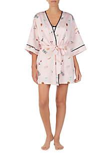 kate spade new york® Short Wrap Robe