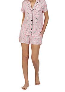kate spade new york® 2 Piece Short Sleeve Knit Boxer Set