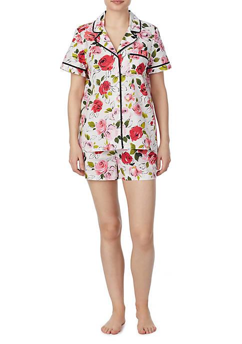 2 Piece Cotton Shortie Pajama Set