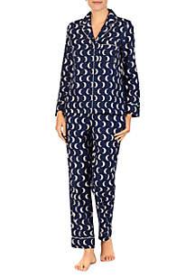 2-Piece Brush Twill Notch Pajama Set