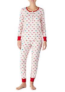 2-Piece Printed Jogger Pajama Set