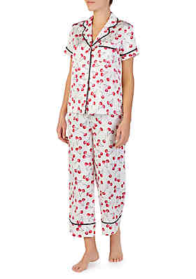 a7e77604730 kate spade new york® 2-Piece Short Sleeve Charmeuse Cropped Pajama Set ...