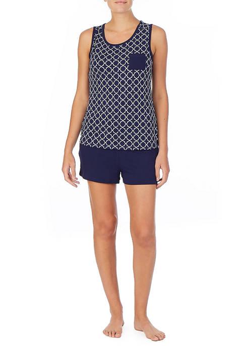 Nautica Sleeveless Top and Short Pajama Set