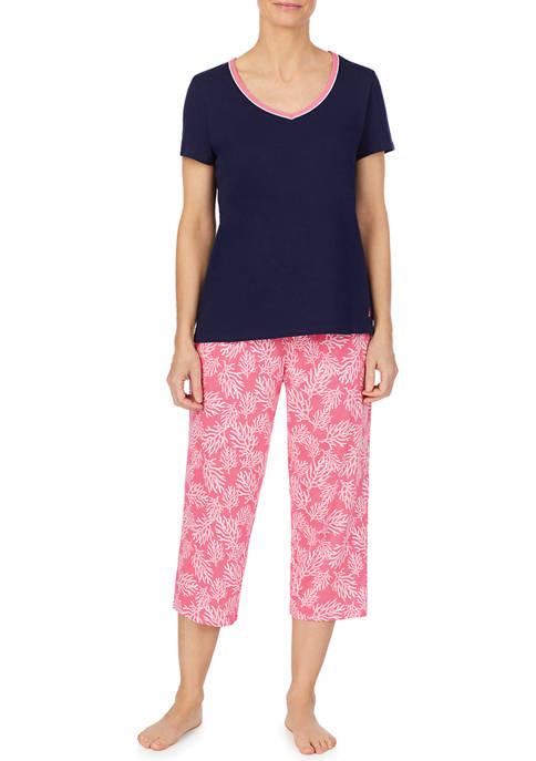 Short Sleeve Capri Pajama Set