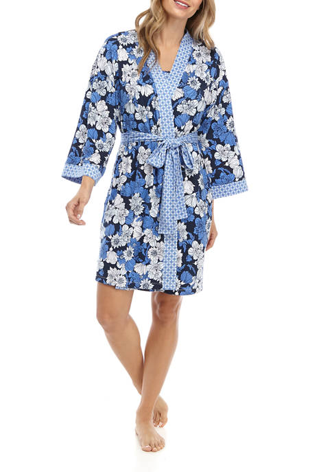 Jones New York Womens Floral Kimono Robe