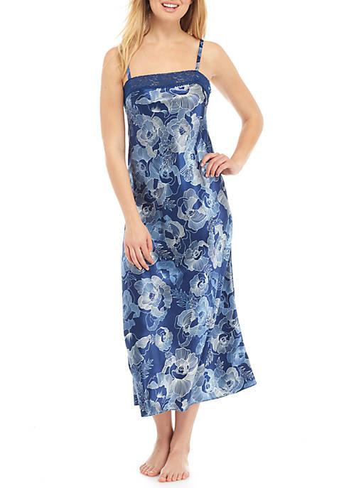 Jones New York Long Satin Nightgown Belk