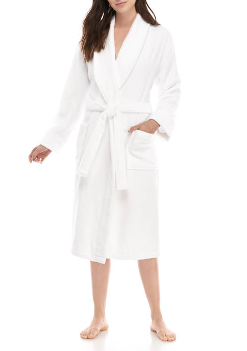 Womens Terry Shawl Spa Robe