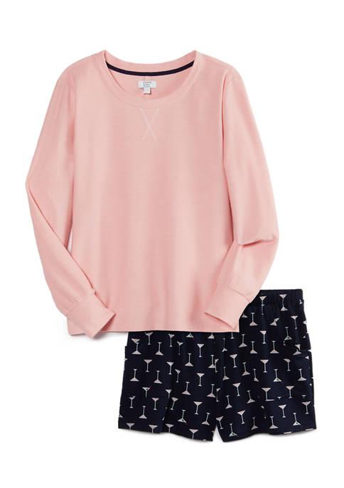 Crown & Ivy™ Long Sleeve Whisper Short Pajama
