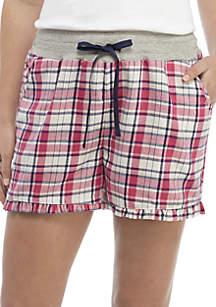 Flannel Sleep Shorts