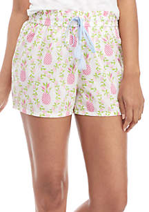 Crown & Ivy™ Printed Smocked Shorts