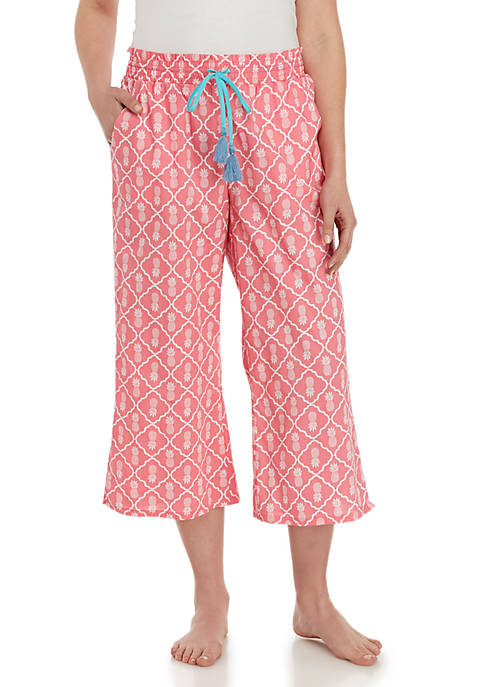 Crown & Ivy™ Smocked Gingham Capris