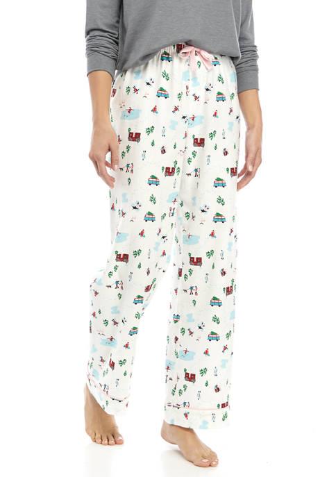 Crown & Ivy™ Womens Printed Flannel Pajama Pants