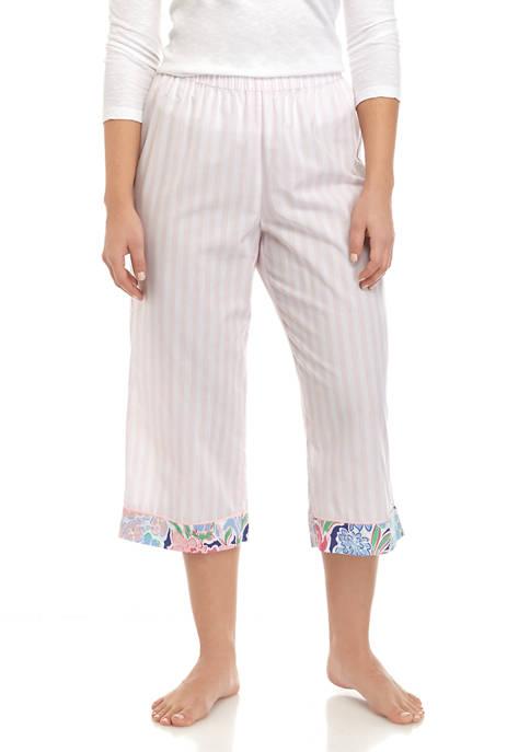Crown & Ivy™ Woven Capri Pajama Pants