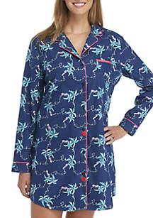 Button-Front Sleepshirt