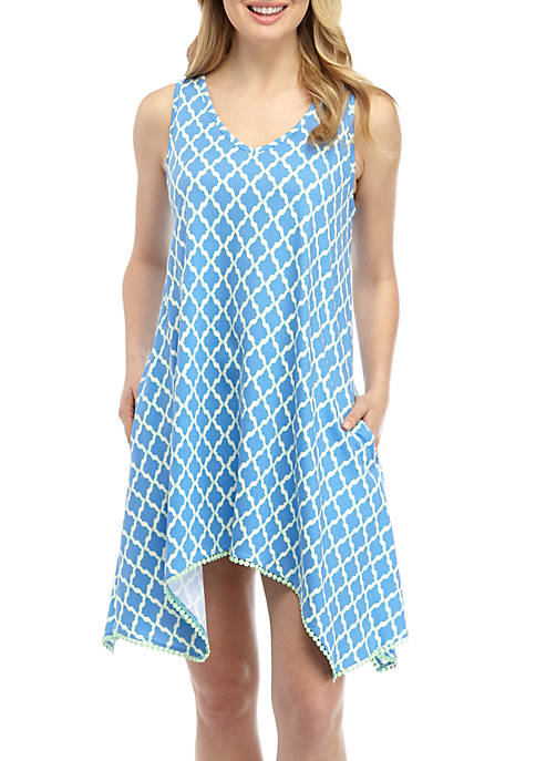 Crown & Ivy™ Pom Trim Nightgown