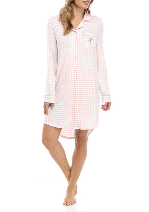 Crown & Ivy™ Womens Notched Sleepshirt