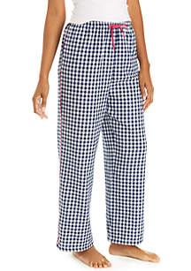 Gingham Flannel Pajama Pants