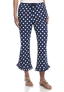 Flannel Ruffle Pants