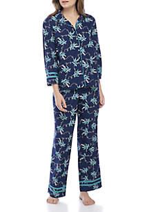 2-Piece Button Down Pajama Set