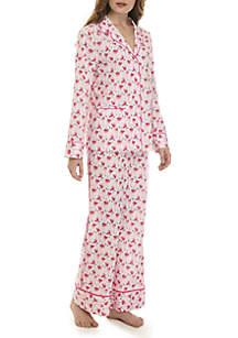Crown & Ivy™ 2-Piece Notch Pajama Set