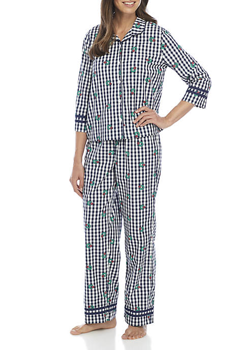Crown & Ivy™ Peter Pan Collar Pajama Set