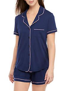 Crown & Ivy™ Notch Shortie Pajama Set