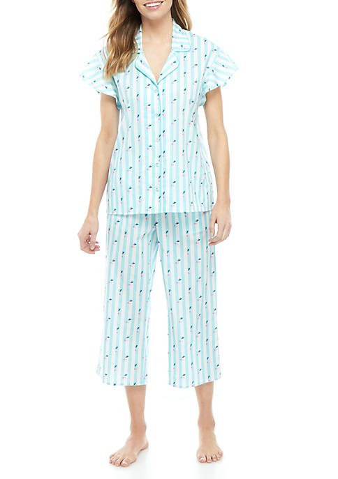 Crown & Ivy™ 2-Piece Flutter Pajama Set